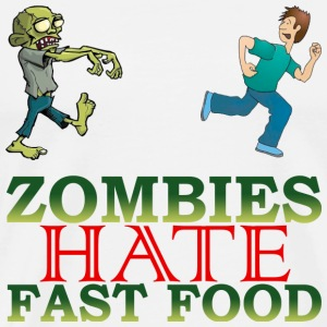 zombie hate fast food - Men's Premium T-Shirt