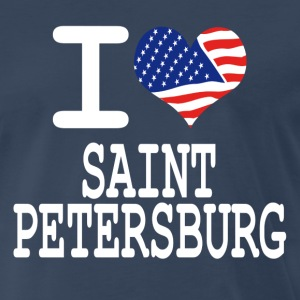 i love saint petersburg - white T-Shirts - Men's Premium T-Shirt