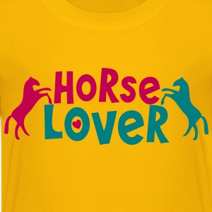 horse lover with two ponies and hearts Kids' Shirts - Kids' Premium T-Shirt