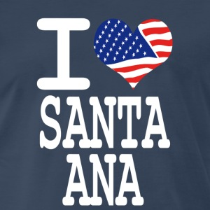 i love santa ana - white T-Shirts - Men's Premium T-Shirt