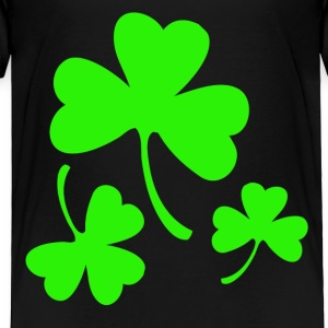 3 Neon Green Shamrocks Toddler Shirts - Toddler Premium T-Shirt