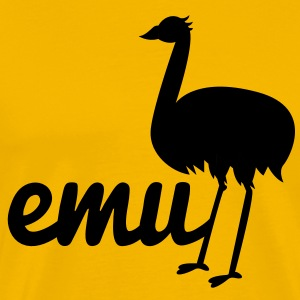 long legged emu with the word T-Shirts - Men's Premium T-Shirt