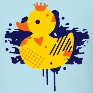 A duck with a crown as a graffiti T-Shirts - Men's T-Shirt