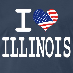 i love illinois - white T-Shirts - Men's Premium T-Shirt