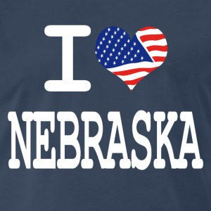 i love nebraska - white T-Shirts - Men's Premium T-Shirt
