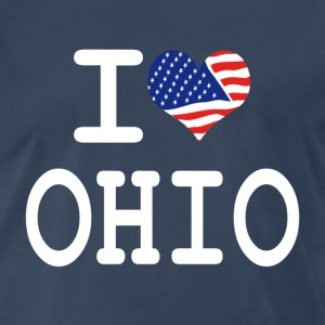 i love ohio - white T-Shirts - Men's Premium T-Shirt