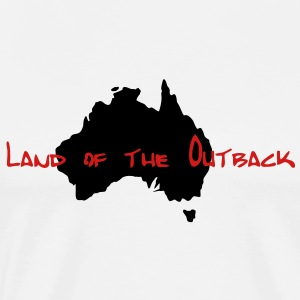 land_of_the_outback T-Shirts - Men's Premium T-Shirt