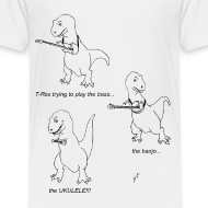 Design ~ T-Rex Trying Ukulele (Toddler T-Shirt)