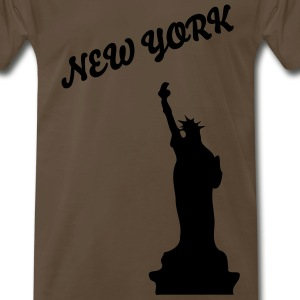 NEW YORK STATUE OF LIBERTY Men's Heavyweight T-Shirt - Men's Premium T-Shirt
