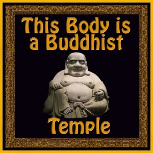This Body is a Buddhist Temple - Men's Premium T-Shirt