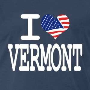 i love vermont - white T-Shirts - Men's Premium T-Shirt