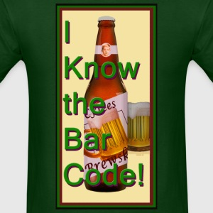 I Know the Bar Code II - The Sequel: 'The Bottle' - Men's T-Shirt