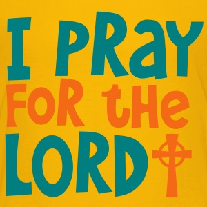 I PRAY FOR THE LORD with cross Kids' Shirts - Kids' Premium T-Shirt