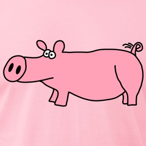 Pig T-Shirts - Men's T-Shirt by American Apparel