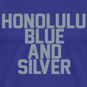 Honolulu Blue & Silver T-Shirts - Men's Premium T-Shirt
