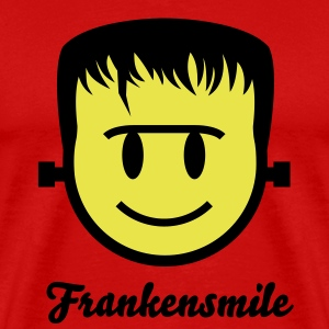 Frankenstein Smiley Icon 2c T-Shirts - Men's Premium T-Shirt