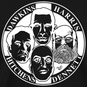 The Four Horsemen: New Atheists (White) - Men's Premium T-Shirt
