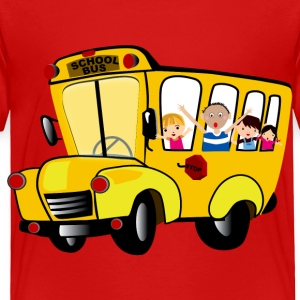 School Bus - Toddler Premium T-Shirt