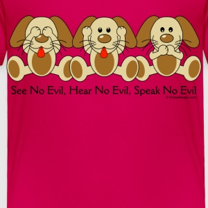See No Evil Puppies - Toddler Premium T-Shirt