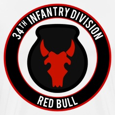 "34th Infantry ""Red Bull"" T-Shirts"