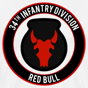 34th Infantry Red Bull T-Shirts - Men's Premium T-Shirt