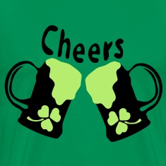 Cheers green Beer shamrock Men's 3XL & 4XL Shirt