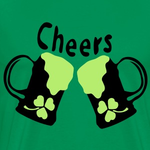 Cheers green Beer shamrock Men's 3XL & 4XL Shirt - Men's Premium T-Shirt