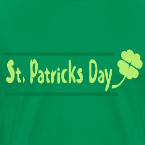 Shamrock st.patrick's day Men's 3XL & 4XL Shirt - Men's Premium T-Shirt