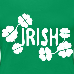 Irish shamrock Women's Plus Size Basic T-Shirt - Women's Premium T-Shirt