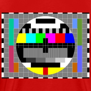 TV Test Pattern of Sheldon Cooper - Men's Premium T-Shirt