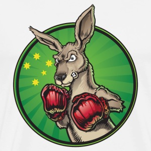 Boxing Kangaroo - Men's Premium T-Shirt