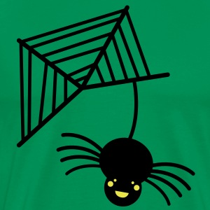 bungee black spider with web and glowing eyes T-Shirts - Men's Premium T-Shirt