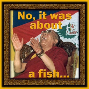 Dalai Lama - No, It Was About a Fish... - Men's Premium T-Shirt