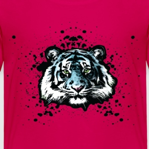 Tiger - Blue Graffiti Graphic Design - Unisex Toddler Shirts - Toddler Premium T-Shirt