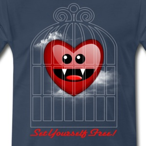 SET YOURSELF FREE (HEART) T-Shirts - Men's Premium T-Shirt