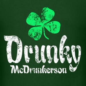 Drunky Green T-Shirts - Men's T-Shirt