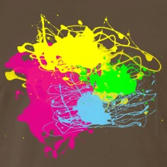 Paint Splatter - Grafitti Graphic Design - Multi-Color