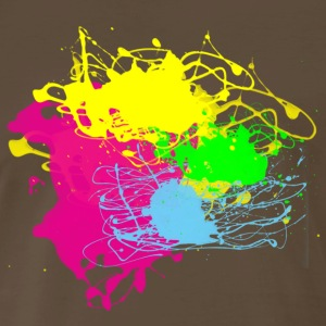 Paint Splatter - Grafitti Graphic Design - Multi-Color - Men's Premium T-Shirt