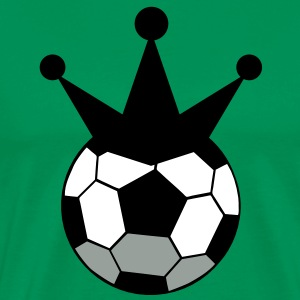 soccer ball sports king with crown T-Shirts - Men's Premium T-Shirt