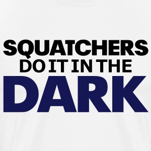 Squatchers do it in The Dark (Black & Purple) - Men's - Men's Premium T-Shirt