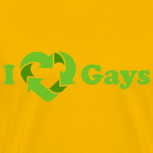 I love Gays - Recycle Heart (dd print) T-Shirts - Men's Premium T-Shirt