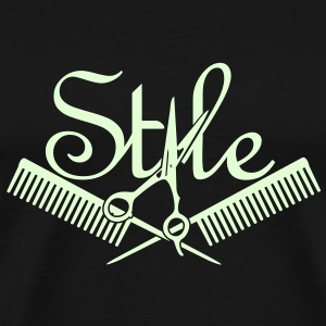 hair style (1c) T-Shirts - Men's Premium T-Shirt