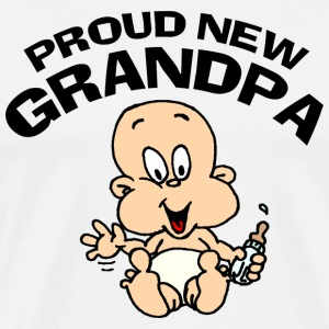 Proud New Grandpa T-Shirt T-Shirts - Men's Premium T-Shirt