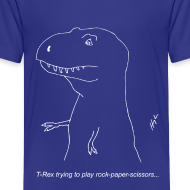 Design ~ T-Rex Rock Paper Scissors White (Kids)