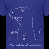 Design ~ T-Rex Rock Paper Scissors White (Kids)