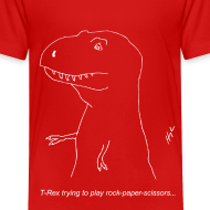 Design ~ T-Rex Rock Paper Scissors White (Toddler)