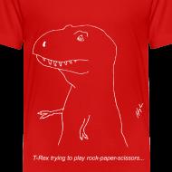 Design ~ T-Rex Rock Paper Scissors White (Toddler)