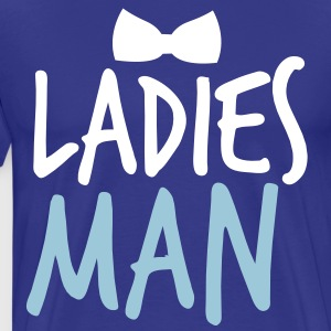 LADIES MAN with a black bow tie event T-Shirts - Men's Premium T-Shirt