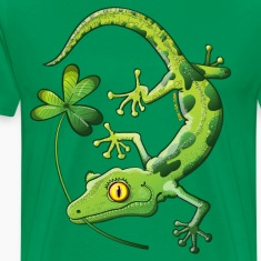 Saint Patrick's Day Gecko T-Shirts