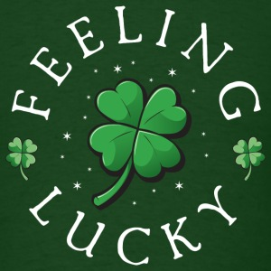 Feeling Lucky, Clover, St. Patrick's Day  - Men's T-Shirt